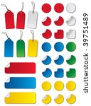 labels in different colors  ... | Shutterstock .eps vector #39751489