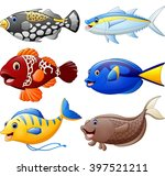 fish cartoon set | Shutterstock . vector #397521211