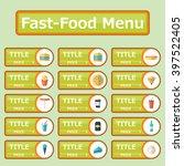 fast food menu | Shutterstock .eps vector #397522405