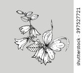 Hand Drawn Ink Floral Ornament...
