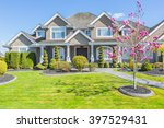 custom built luxury house with... | Shutterstock . vector #397529431