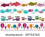 air transportation border set   ... | Shutterstock .eps vector #39753763