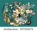 abstract music background ... | Shutterstock .eps vector #397539271