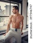 shirtless muscular man with... | Shutterstock . vector #397546747