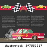 background with retro racing... | Shutterstock .eps vector #397553317
