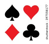 set of playing card suits... | Shutterstock .eps vector #397558177
