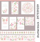 floral spring templates with... | Shutterstock .eps vector #397559359