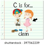 flashcard letter c is for clean ...   Shutterstock .eps vector #397562239