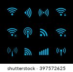 vector wireless and wifi icon... | Shutterstock .eps vector #397572625