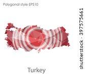 turkey map in geometric... | Shutterstock .eps vector #397575661