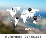 vector template. world map on... | Shutterstock .eps vector #397581895