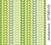 seamless pattern with leaves in ... | Shutterstock .eps vector #397585105