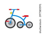 vector illustration tricycle... | Shutterstock .eps vector #397585591