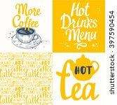 tea party set with seamless... | Shutterstock .eps vector #397590454