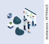 coworking freelance employed... | Shutterstock .eps vector #397594615