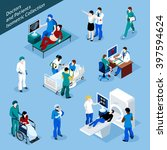 doctor and patient isometric... | Shutterstock .eps vector #397594624