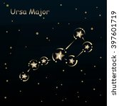 ursa major on a dark blue... | Shutterstock .eps vector #397601719