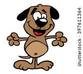 dog cartoon | Shutterstock . vector #397611364
