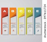 design clean number banners... | Shutterstock .eps vector #397611724