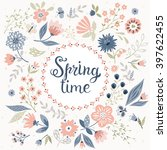 vector spring time background... | Shutterstock .eps vector #397622455