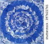 blue and white polygonal... | Shutterstock .eps vector #397622761