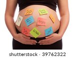 pregnant caucasian woman with... | Shutterstock . vector #39762322