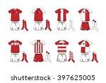 different designs of soccer kits | Shutterstock .eps vector #397625005