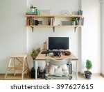 home office working space....   Shutterstock . vector #397627615