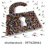 large and diverse group of... | Shutterstock . vector #397628461