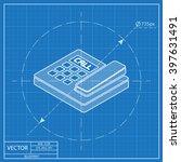 office phone isometric 3d... | Shutterstock .eps vector #397631491