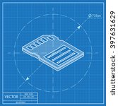 compact memory card isometric... | Shutterstock .eps vector #397631629