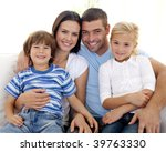 happy young family sitting on... | Shutterstock . vector #39763330