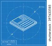 diskette save isometric 3d... | Shutterstock .eps vector #397633585