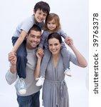 parents giving children...   Shutterstock . vector #39763378