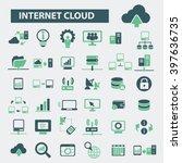 internet cloud icons  | Shutterstock .eps vector #397636735