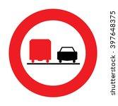 austria no overtaking by heavy... | Shutterstock .eps vector #397648375