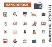 bank deposit icons  | Shutterstock .eps vector #397649191