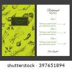 vector hand drawn beef steak...   Shutterstock .eps vector #397651894