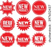 new product red label. new... | Shutterstock .eps vector #397652437