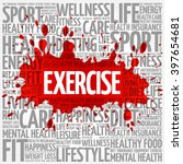 exercise word cloud background  ... | Shutterstock .eps vector #397654681