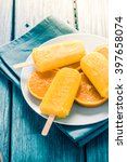 homemade tasty popsicle with... | Shutterstock . vector #397658074