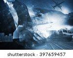 business man and transportation ... | Shutterstock . vector #397659457