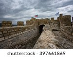 cloudy day at ovech fortress ... | Shutterstock . vector #397661869