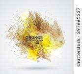 vector figured brush strokes... | Shutterstock .eps vector #397665337
