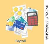payroll icon | Shutterstock . vector #397666231