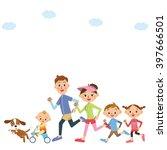 run in families | Shutterstock .eps vector #397666501