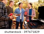 group of gay male friends... | Shutterstock . vector #397671829