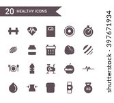 healthy lifestyle icon set...   Shutterstock .eps vector #397671934