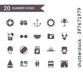 summer icon set vector.... | Shutterstock .eps vector #397671979