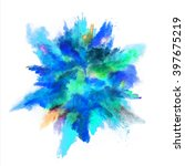 explosion of colored powder on...   Shutterstock . vector #397675219